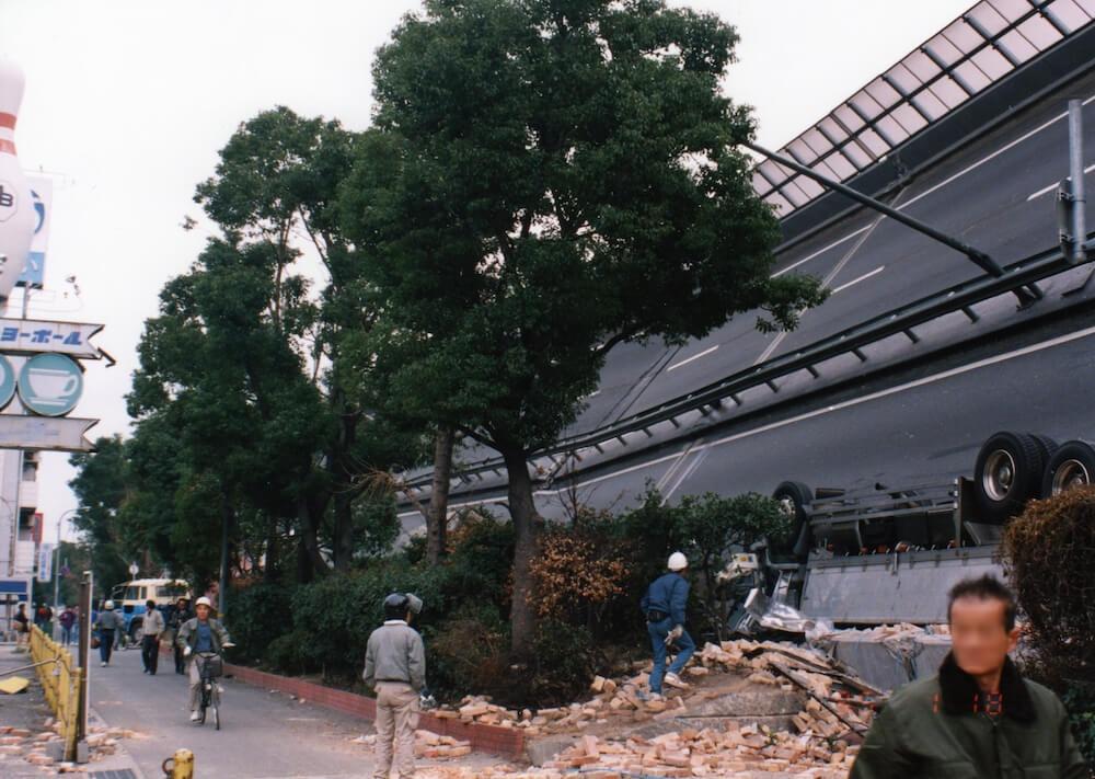 阪神大震災の様子